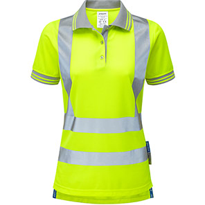 PULSAR P700 Women's Yellow Hi-Vis Polo Shirt