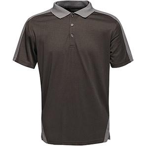 Regatta Contrast Black/Seal Grey Polo Shirt