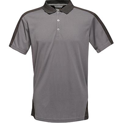 Contrast Polo Shirt Seal Grey/Black