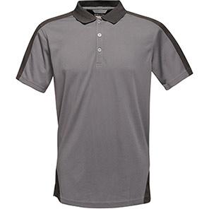 Regatta Contrast Seal Grey/Black Polo Shirt