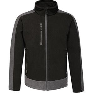 Contrast Fleece  Black/Seal Grey