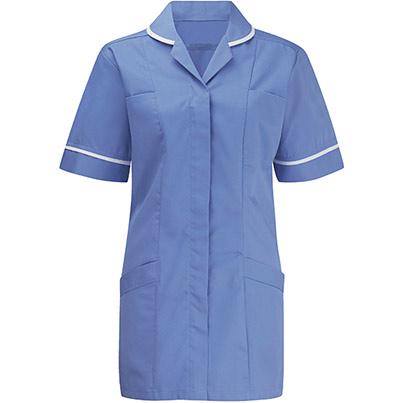 Alsi Advantage Tunic Female Primary Base Colour Mid Blue Secondary Base Colour White
