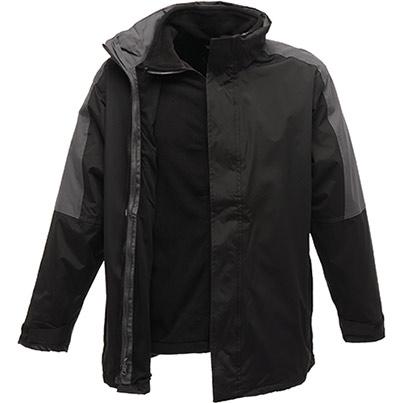 Regatta Men's Defender 3-in-1 Jacket Black/Seal Grey
