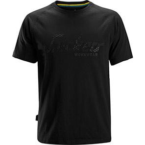 Snickers 2580 Black Logo T-Shirt
