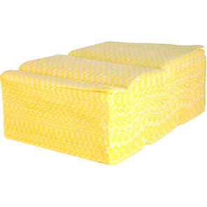 Arco Yellow Medium-Duty Cleaning Cloths (Pack of 300)