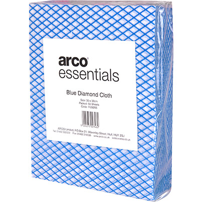 Arco Essentials Blue Diamond Cloths (Pack of 50)