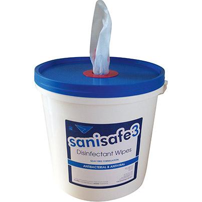 Sanisafe 3 Quat Free Wipes 2000 Bucket