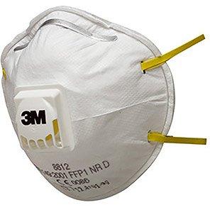 3M 8812 Valved Hand-Sanding FFP1 Dust Mask (Box of 10)