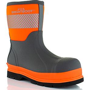 Brightboot Mid Hi-Vis Orange S5 Safety Wellington Boots