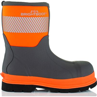 Brightboot Mid Primary Base Colour Orange Secondary Base Colour Grey