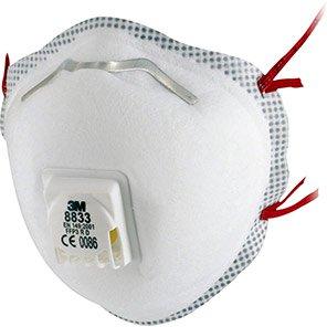 3M 8833 Valved FFP3 Dust Masks (Pack of 10)