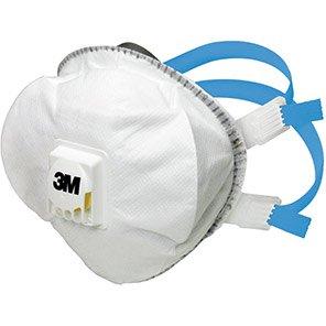 3M 8825+ Valved FFP2 Dust Masks (Pack of Five)
