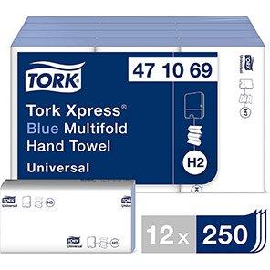Tork Xpress Blue Universal Z-Fold Paper Towel (Case of 12 Packs)