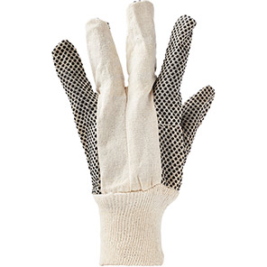 Arco Men's Polka-Dot Cotton Grip Gloves (Pack of 12 Pairs)