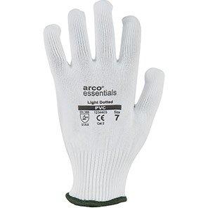 Arco Essentials White Lightweight Dotted Gloves