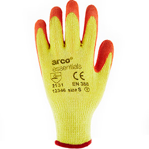 Arco Essentials Contractor Latex-Coated Grip Gloves