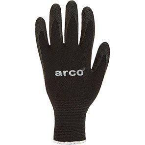 Arco Black Lycra Latex-Coated Gloves