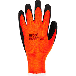 Arco Essentials Orange Hi-Vis Latex-Coated Gloves