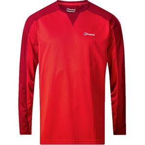 Berghaus Tech Tee 2.0 Red Long-Sleeve T-Shirt