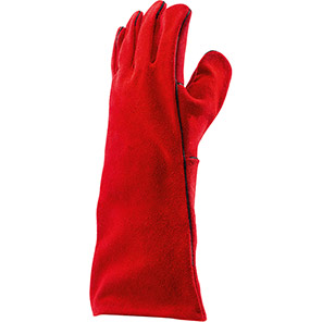 Arco Red Split-Leather Welder's Gauntlets (Pack of 10 Pairs)