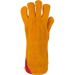 Arco Yellow Reinforced Leather Welder's Gauntlets (Pack of 10 Pairs)