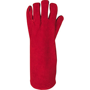 Arco Red Leather Extended Welder's Gauntlets (Pack of 10 Pairs)