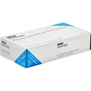 100 Arco Essentials Disposable Blue Vinyl Glove