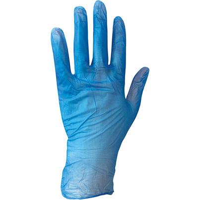 Arco Essentials Disposable Powder Free Blue Vinyl Glove Bagged