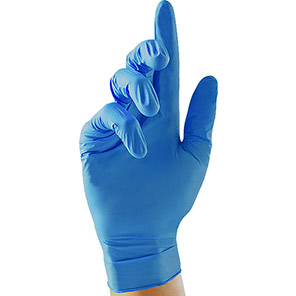 100x GS003X Soft Nitrile Gloves Blue Coating colour Blue Secondary coating colour N/A Gauntlet length (mm) 240