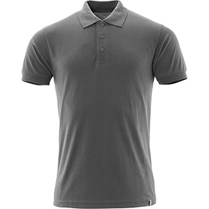 MASCOT CROSSOVER Men's Dark Anthracite Grey Sustainable Polo Shirt