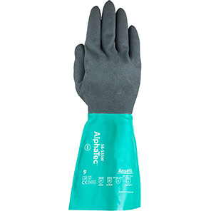 Ansell AlphaTec 58-535W Chemical-Resistant Gauntlets