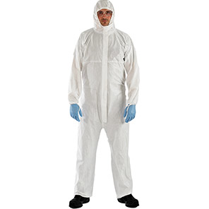 AlphaTec 2000 TS PLUS Model 111 White Chemical Coverall