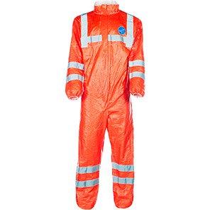 DuPont Tyvek 500 HV 125 Orange Hi-Vis Chemical Coverall