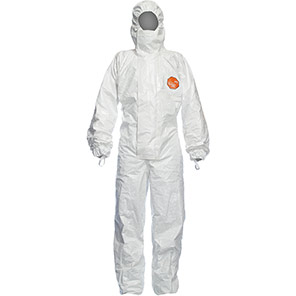 DuPont Tychem 4000 S CHZ5 White Chemical Coverall