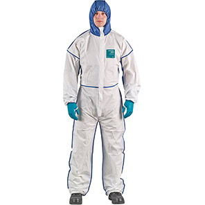 AlphaTec 1800 COMFORT Model 195 White Chemical Coverall