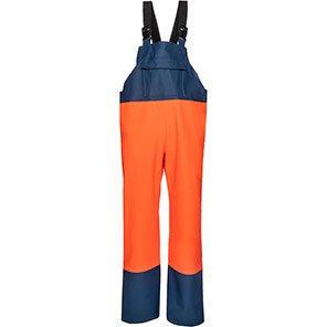Sioen Stein Orange/Navy Waterproof Bib and Brace Overalls
