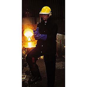 Arco Navy Metal-Splash Trousers