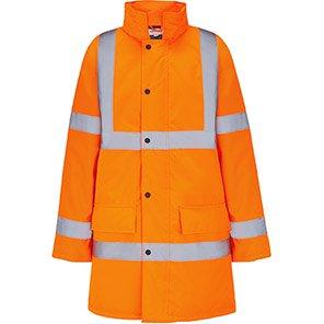 Arco Essentials Orange Hi-Vis Coat