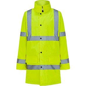 Arco Essentials Yellow Hi-Vis Coat