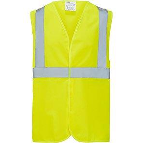 Arco Essentials Yellow One-Band Hi-Vis Vest