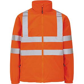 Arco Orange Hi-Vis Softshell Jacket