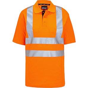 Arco Orange Breathable Hi-Vis Polo Shirt