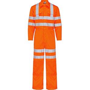 Arco Orange Launderable Polycotton Hi-Vis Overalls