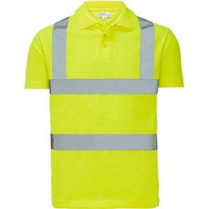 Arco Essentials Yellow Hi-Vis Polo Shirt