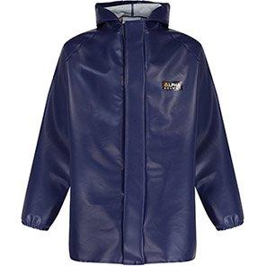 Alpha Solway Chemsol HG Navy Hooded Washdown Jacket with Glovezon Cuffs