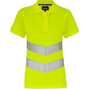 Arco Women's Yellow Hi-Vis Polo Shirt