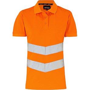 Arco Women's Orange Hi-Vis Polo Shirt