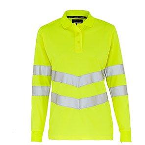 Arco Women's Yellow Long-Sleeve Hi-Vis Polo Shirt