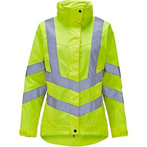 Arco Women's Yellow Waterproof Hi-Vis Jacket
