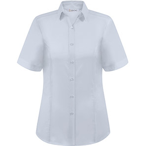 Disley Heritage Megan Women's Short-Sleeve White Oxford Blouse